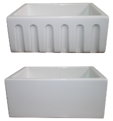 "LaToscana Fireclay Kitchen Sink - LAT-R2418W - 24"" Reversible Fireclay Sink - White"