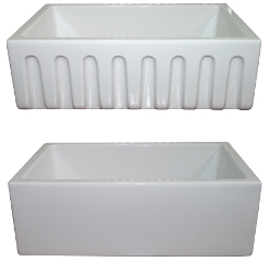 "LaToscana Fireclay Kitchen Sink - LF3018W - 30"" Reversible Fireclay Sink - White"