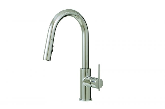 Aquabrass Kitchen Faucets - Quinoa 6045N Pull-down dual stream mode kitchen faucet - 2 Finishes