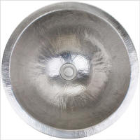 Linkasink Bathroom Sinks - Stainless Steel - C001-SS Small Round Sink - Satin Stainless Steel