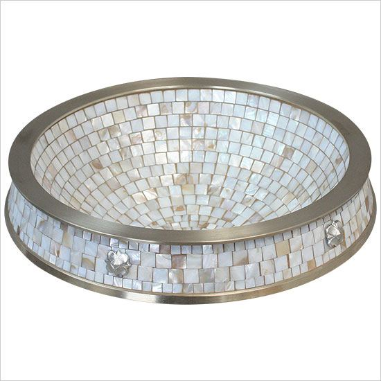 "Linkasink Sinks - Linkasink CM03 Semi Recessed Mosaic Sink - 17"" x 3"" above counter 3"" below with 1.5"" drain"