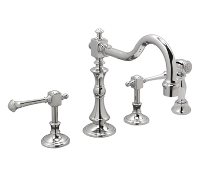 Huntington Brass Kitchen Faucets - Platinum Series K2560301 - Monarch Widespread with Side Spray - Chrome