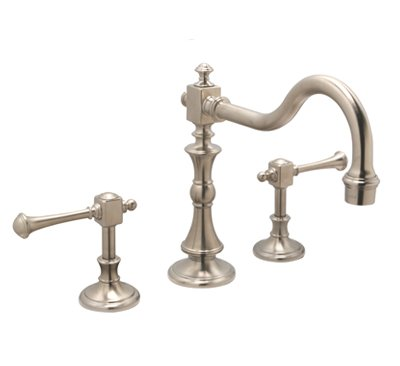 "Huntington Brass Bathroom Faucets - Platinum Series - W4560302-1 - Monarch 8"" Widespread - PVD Satin Nickel"