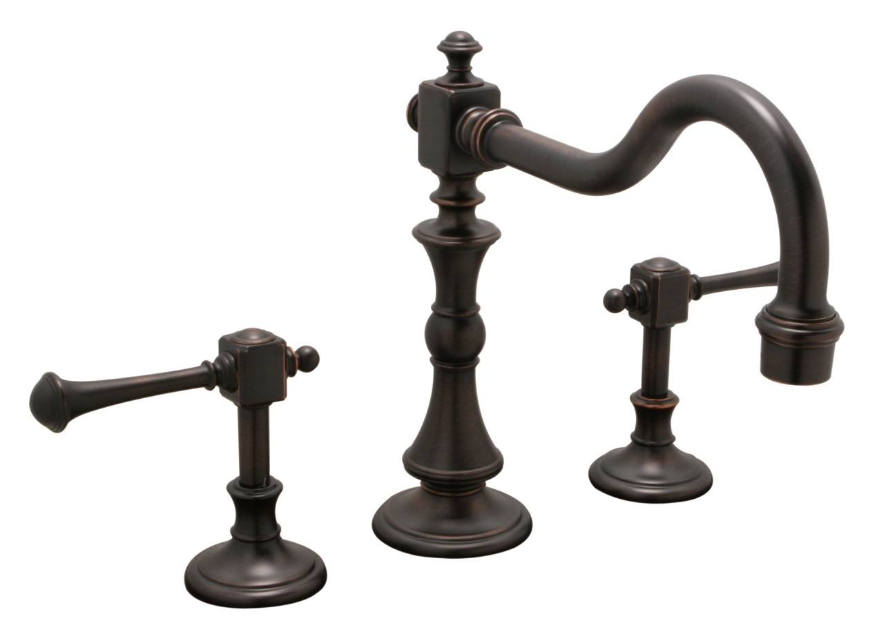 Huntington Brass Kitchen Faucets - Platinum Series K2460303 - Monarch Widespread Kitchen - Antique Bronze