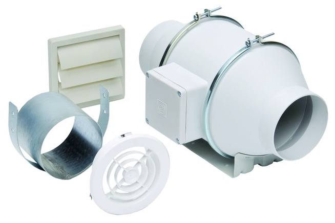 "S&P Soler & Palau Ventilation Fans - KIT-TD150 6"" Duct Inline Mixed Flow Duct Ventilation Fan Kit - H 293 cfm, L 218 cfm"
