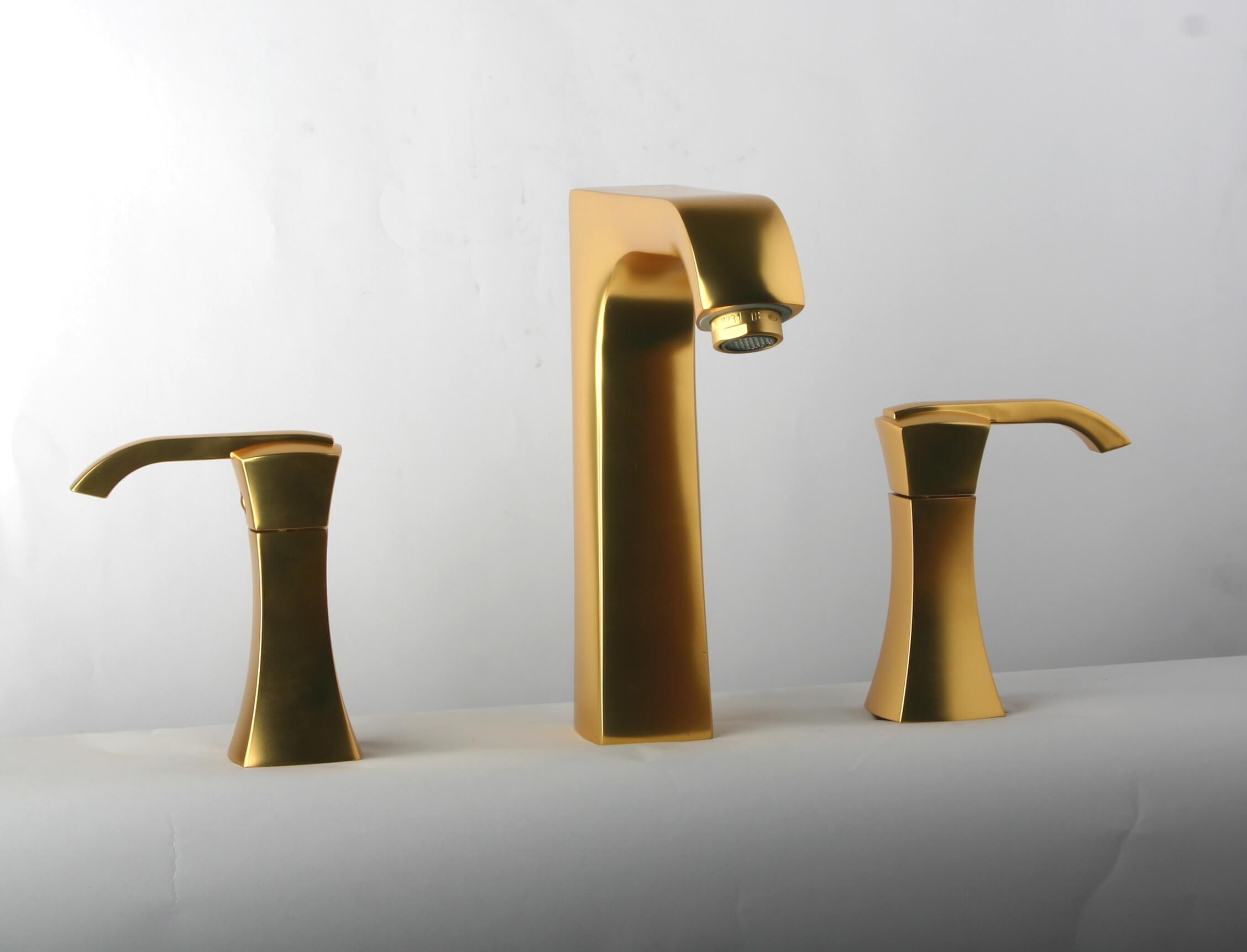 LaToscana by Paini Bathroom Faucets - Lady 89OK214 Widespread Faucet - Satin Gold