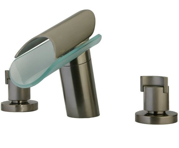 "LaToscana by Paini Bathroom Faucets - Morgana 73PW214VR 8"" Widespread Lavatory Faucet - Brushed Nickel & Glass"