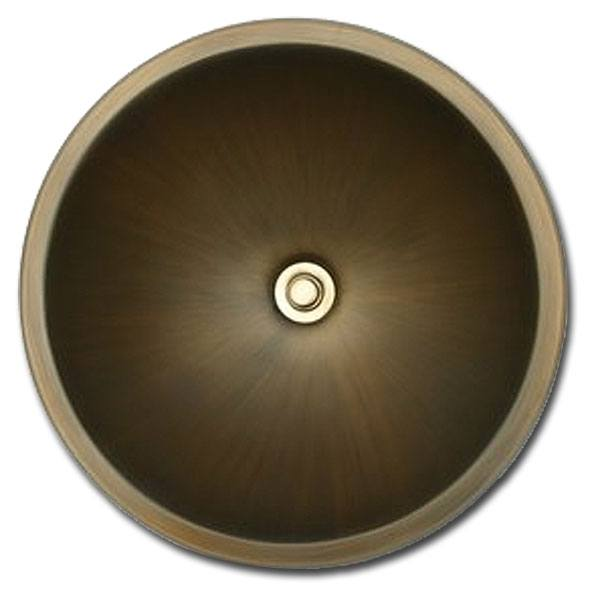 Linkasink Bathroom Sinks - Bronze - BR003 Round Sink Large (Smooth) - 4 Finishes