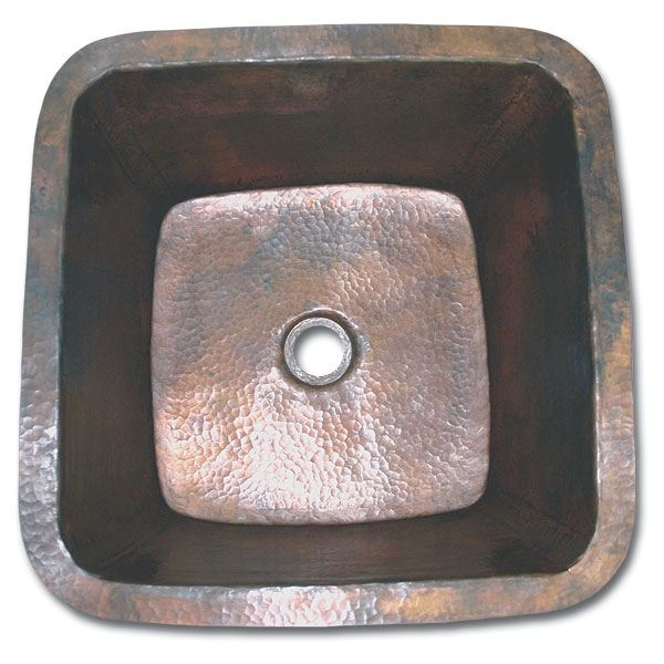 Linkasink Kitchen Sinks - Linkasink C006 Small Square Copper Prep Sink 2