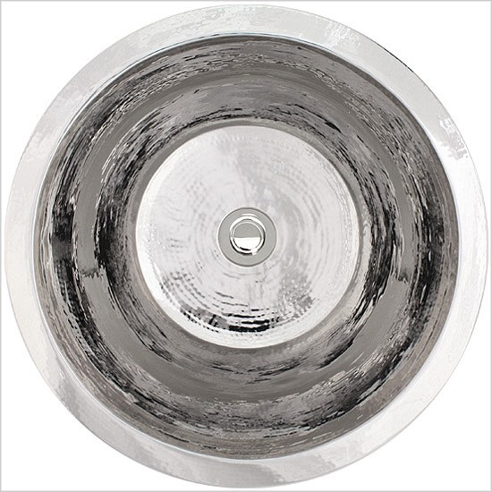 "Linkasink Bathroom Sinks - Stainless Steel - C016A-PS Small Flat Round Sink - 1.5"" drain - Polished Stainless Steel"