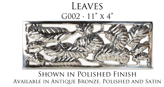 Linkasink G002 Leaves Grate for P008 Tiffany Jewelers Sink