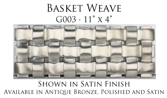Linkasink G003 Basket Weave Grate for P008 Tiffany Jewelers Sink
