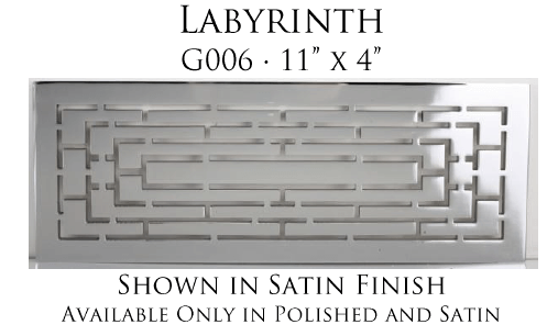 Linkasink G006 Labyrinth Grate for P008 Tiffany Jewelers Sink