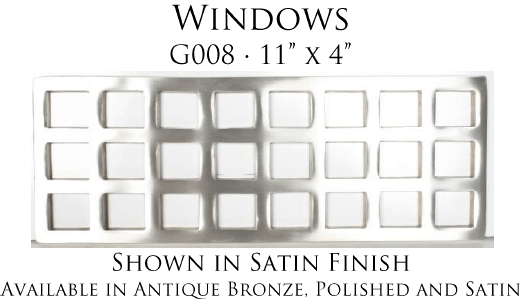 Linkasink G008 Windows Grate for P008 Tiffany Jewelers Sink