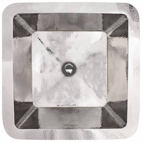 Linkasink Bathroom Sinks - Stainless Steel - C005-PS Small Square Sink - Polished Stainless Steel