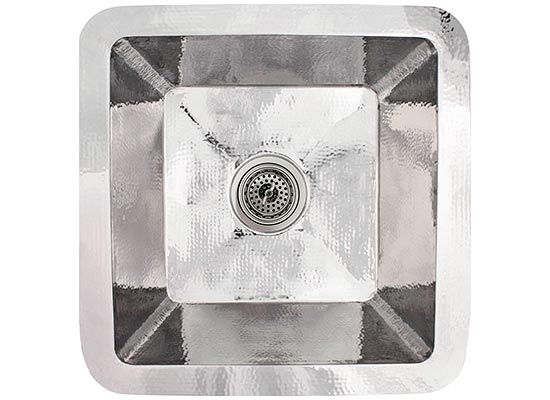 Linkasink Kitchen Sinks - C006-PS Stainless Steel - Small Square Prep Sink - Polished