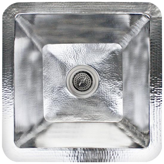 Linkasink Kitchen Sinks - Linkasink C006-SS Small Square Stainless Steel Prep Sink - Satin