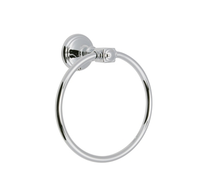 Huntington Brass Bathroom Accessories Platinum Series - Y1460301 - Monarch Towel Ring - Chrome