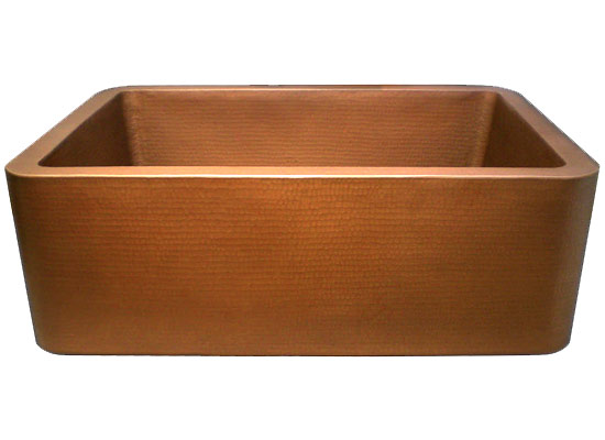 Linkasink Farmhouse Sinks - Linkasink C020 Apron Front Kitchen Copper Sink - CO20