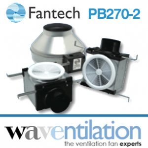 Fantech Bathroom Exhaust Fan PB270-2 - Vent Only Dual Grille 270 cfm