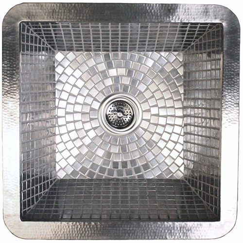 Linkasink Bar Sinks - Stainless Steel Mosiac Tile - V051 Nickel Plated Copper Kitchen Sink