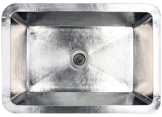 "Linkasink Kitchen Sinks - Linkasink C010-SS Hammered Stainless Steel Sink - 3.5"" Drain"