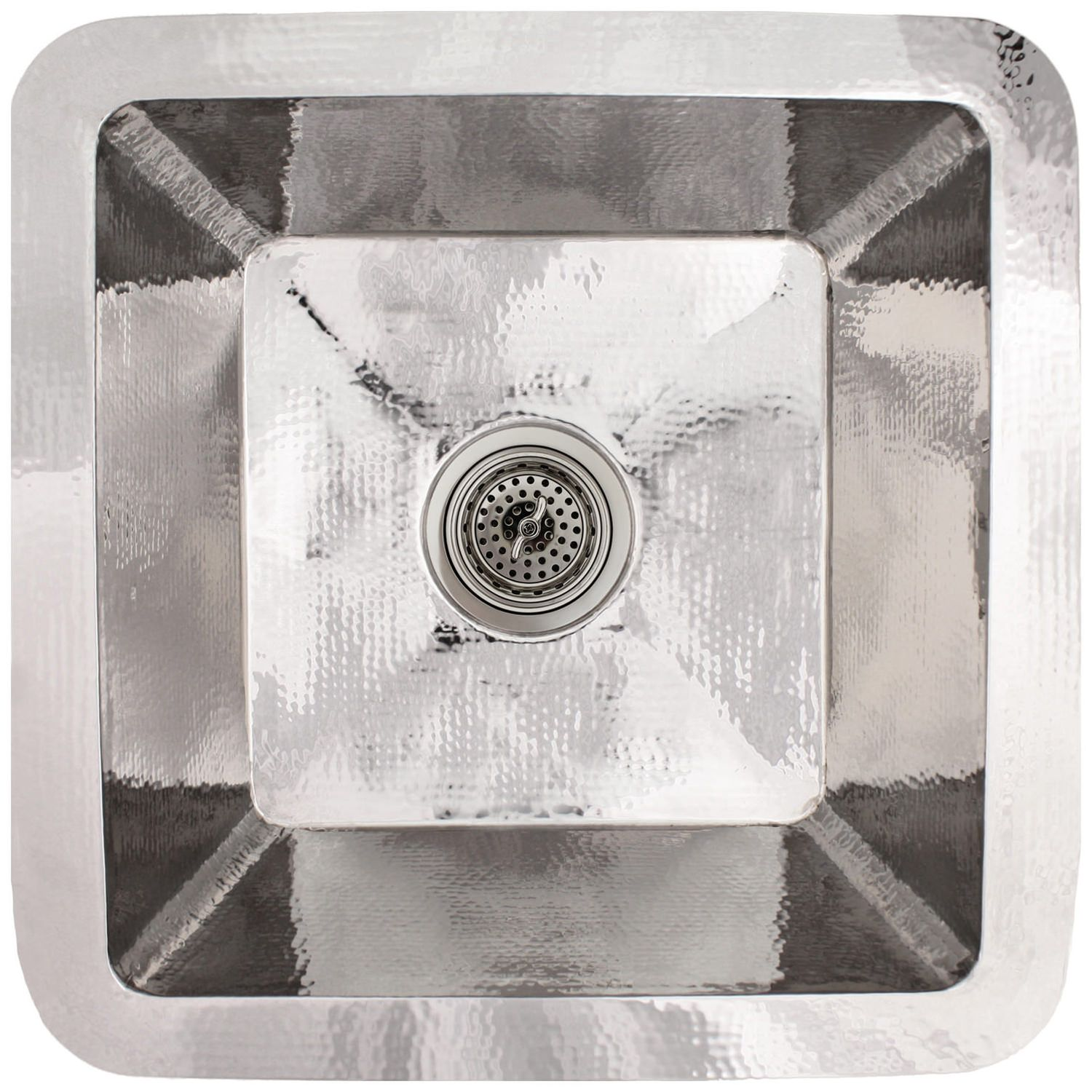"Linkasink Kitchen Sinks - Linkasink C008-PS Large Square Stainless Steel Prep Sink - 3.5"" drain - Polished"