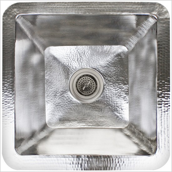"Linkasink Kitchen Sinks - Linkasink C008-SS Large Square Stainless Steel Prep Sink - 3.5"" drain - Satin"