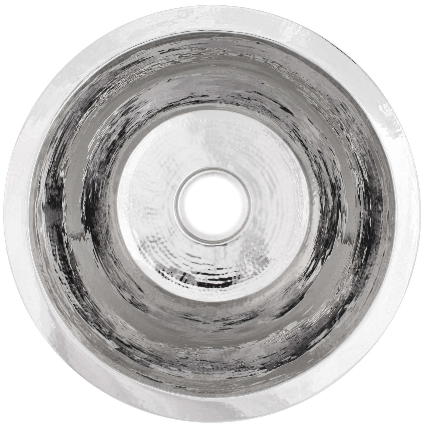 "Linkasink Kitchen Sinks - Linkasink C017-PS Small Flat Round Stainless Steel Sink - 3.5"" drain - Polished"