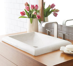Native Trails Stone Bathroom Sinks - NativeStone Montecito NSL2216-P - Pearl