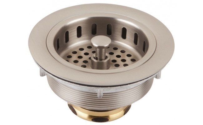 Thompson Traders Drain - Kitchen - TDB35-BRN - Basket Strainer Post Style - Brushed Nickel