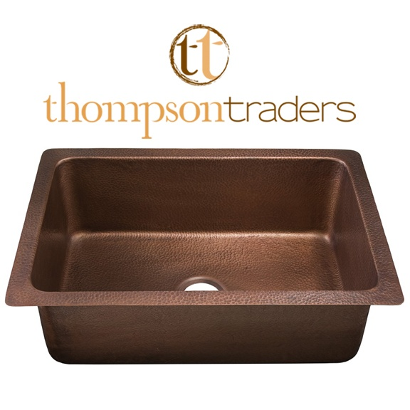 Thompson Traders Kitchen Sinks - Renovations Pisa KSU-3020AH Single Bowl - Hammered Medium Antique Copper