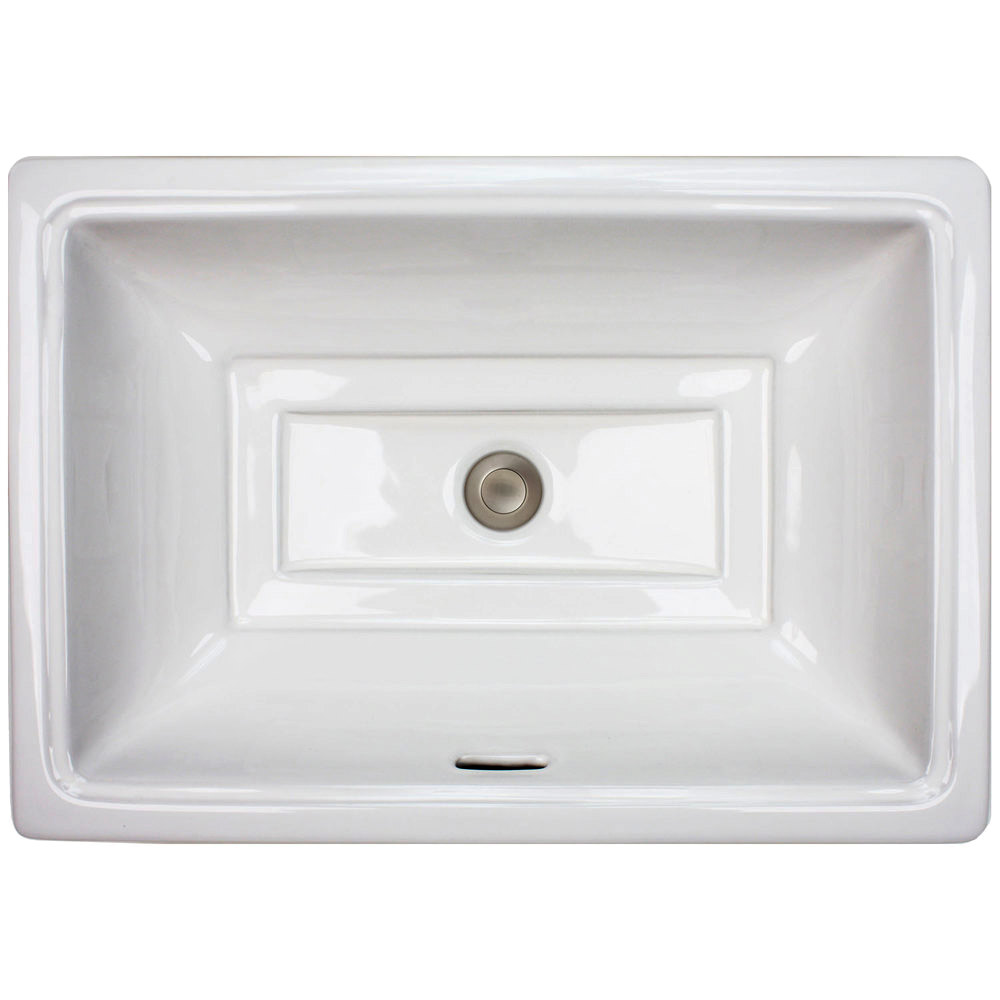 Linkasink Bathroom Sinks - Porcelain - P008-W Tiffany Sink- White