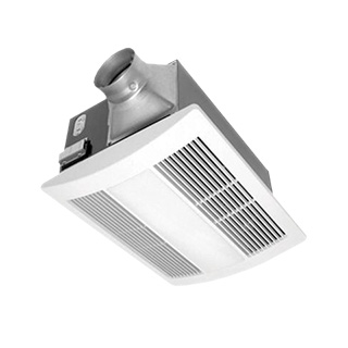 Panasonic Fans - WhisperWarm FV-11VHL2 Bathroom Exhaust Fan-Heat-Lite - 110 cfm - 0.7 Sones
