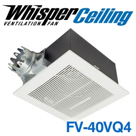 Panasonic Fans - WhisperCeiling - FV-40VQ4 Bathroom Exhaust Fan - 380 cfm - 3.0 Sones - 6 Inch Duct