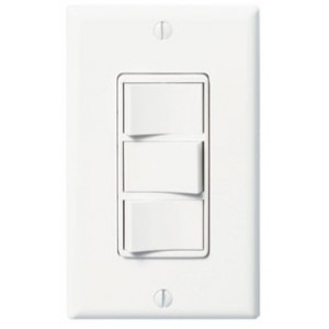 Panasonic Fans - FV-WCSW31-W Light Switch, WhisperControl Triple Function, ON/OFF, Fan/Light/Night Light Switch - White