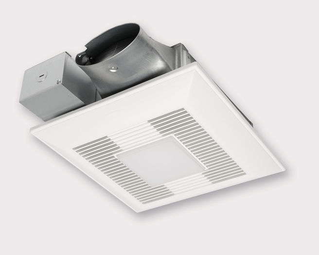 Panasonic Fans - WhisperValue Lite - FV-0510VSL1 Bathroom Exhaust Fan with Light - 50/80/100 CFM - 4 Inch Oval Duct