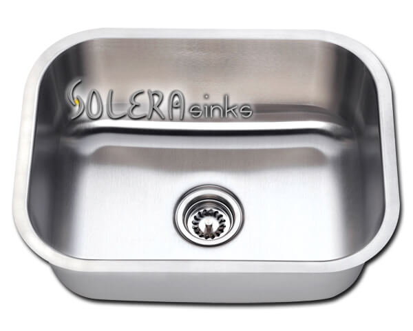 "Solera Kitchen Sink - Stainless Steel S8132 Undermount Single Bowl Sink 23"" x 17 3/4"" x 9"""