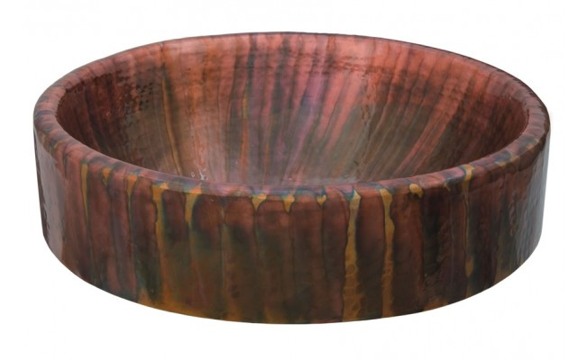 Thompson Traders Sinks - Bathroom - Copper - Legacy Collection Baccus Tornasol RTW - Multi Color Copper
