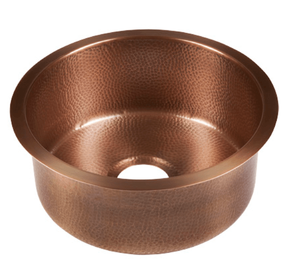 Thompson Traders Copper Bar & Prep Sink - Limited Edition Napoli Round PU-1708MA - Medium Antique Finish