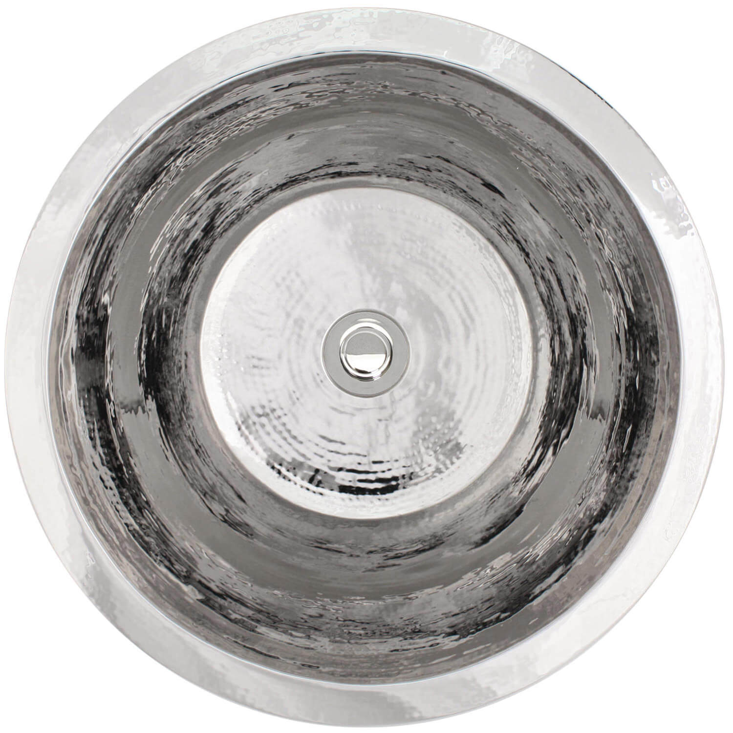 "Linkasink Bar Sinks - Linkasink C016 Small Flat Round Stainless Steel Sink - 2"" drain - 2 Finishes"