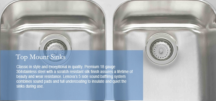 Lenova Kitchen Sinks - Top Mount Sinks