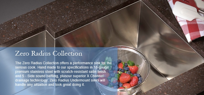 Lenova Kitchen Sinks - Zero Radius Sinks