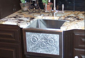 Elite Bath - Stainless Steel SSB13 Little Payton Farmhouse Bar Sink - Includes Art Panel