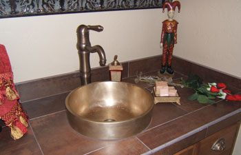 Elite Bath Bathroom Sinks Bronze - Cosmopolitan RV14 Bronze Bathroom Vessel Sink - 9 Finishes