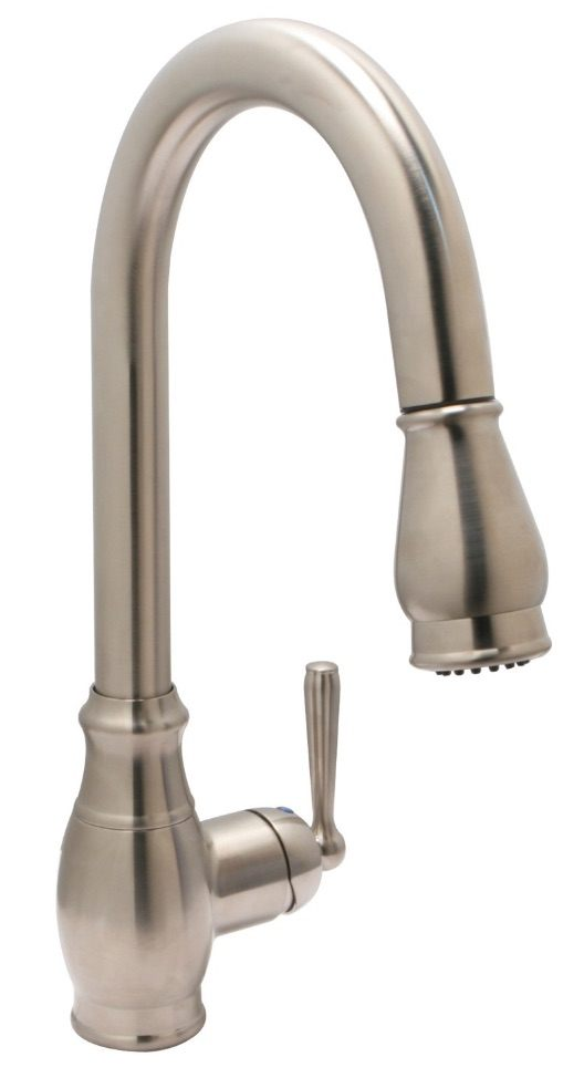 Huntington Brass Kitchen Faucets - Decor Isabelle K4811002-D - Pull-Down Kitchen Faucet - PVD Satin Nickel