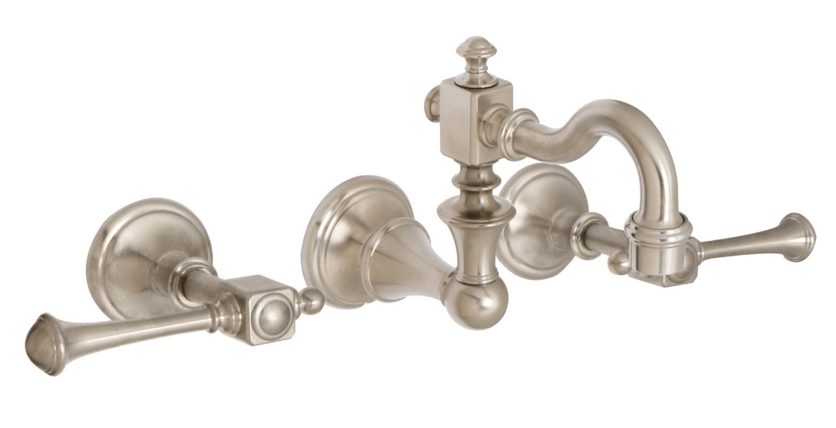 Huntington Brass Bathroom Faucets - Platinum Series - W4860302 - Monarch Wall Mount - PVD Satin Nickel