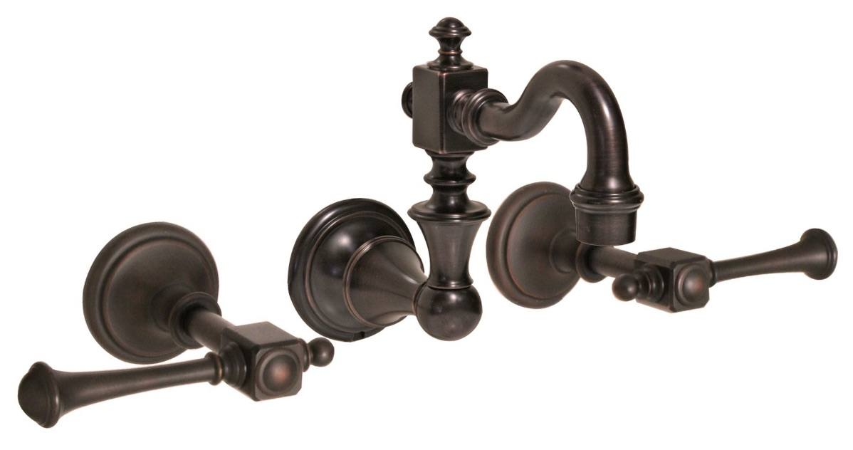 Huntington Brass Bathroom Faucets - Platinum Series - W4860303 - Monarch Wall Mount - Antique Bronze