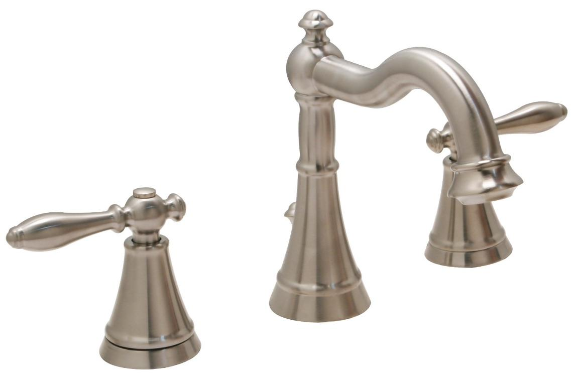 "Huntington Brass Bathroom Faucets Decor Series - Sherington - 8"" Widespread W4561202-1 - PVD Satin Nickel"