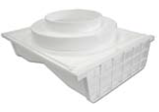 "Lambro Industries Under Eave Vent - 4"" Plastic Double Sided 4"" or 6"" Round - Model 164W"